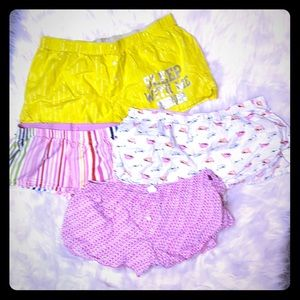4 Pair Sleep Shorts VS PINK Arie